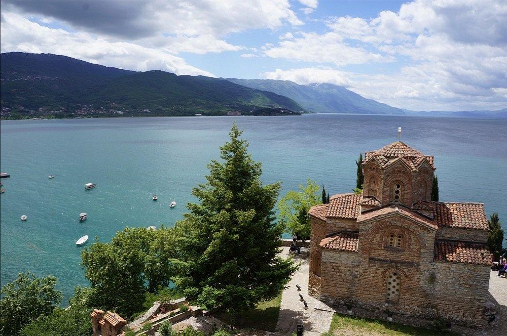 Het meer van Ohrid in Macedonië ontdekt u tijdens de wandelvakantie van Fitál Vakanties