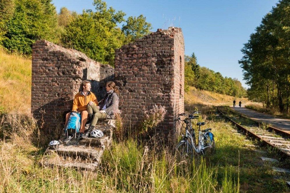 fietsers bij  Vennbahn