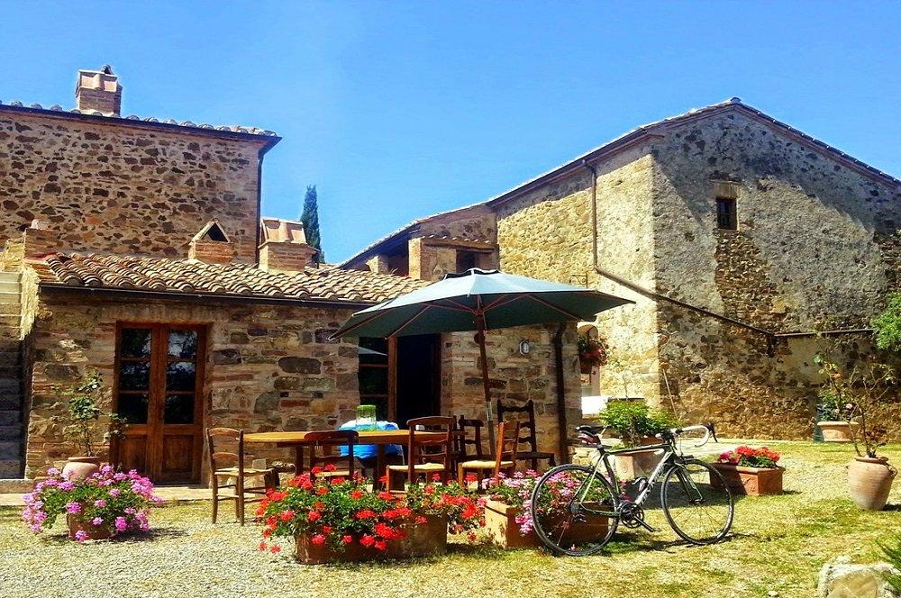 italie terras met fiets