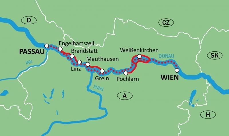 Kaart Donau Theodor Körner