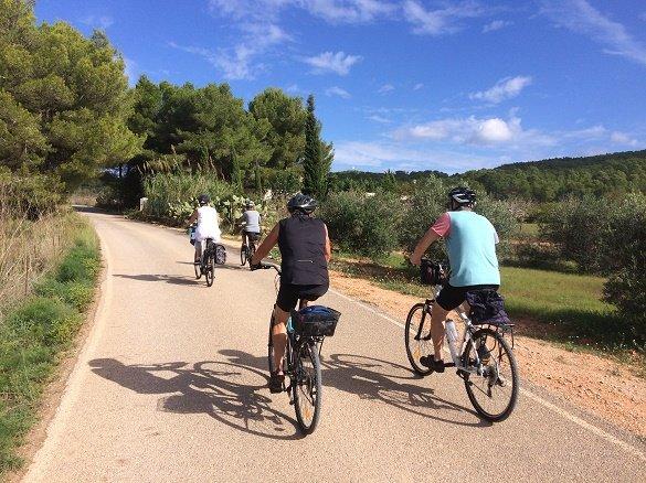 fietsers ibiza