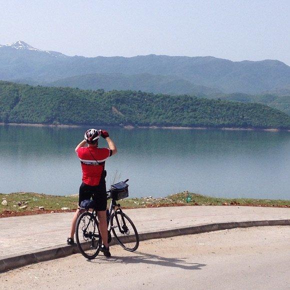 fietser meer Macedonie