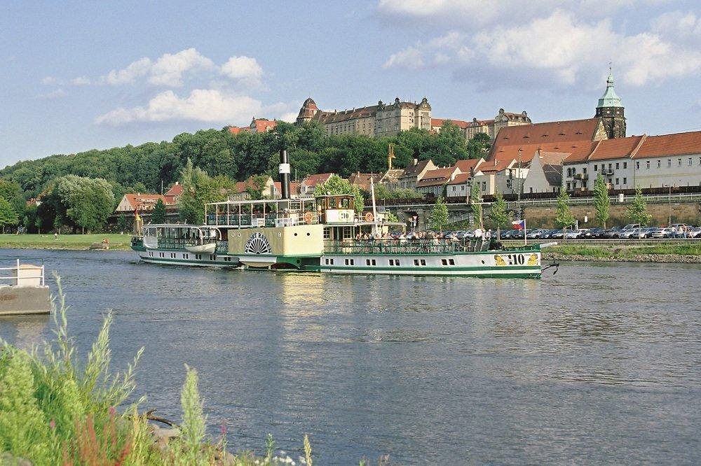 Pirna aan de Elbe met radarboot