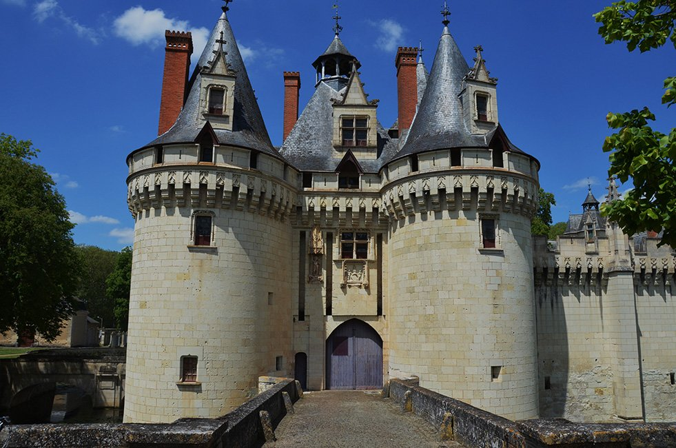 Ingang van een slot-kasteel