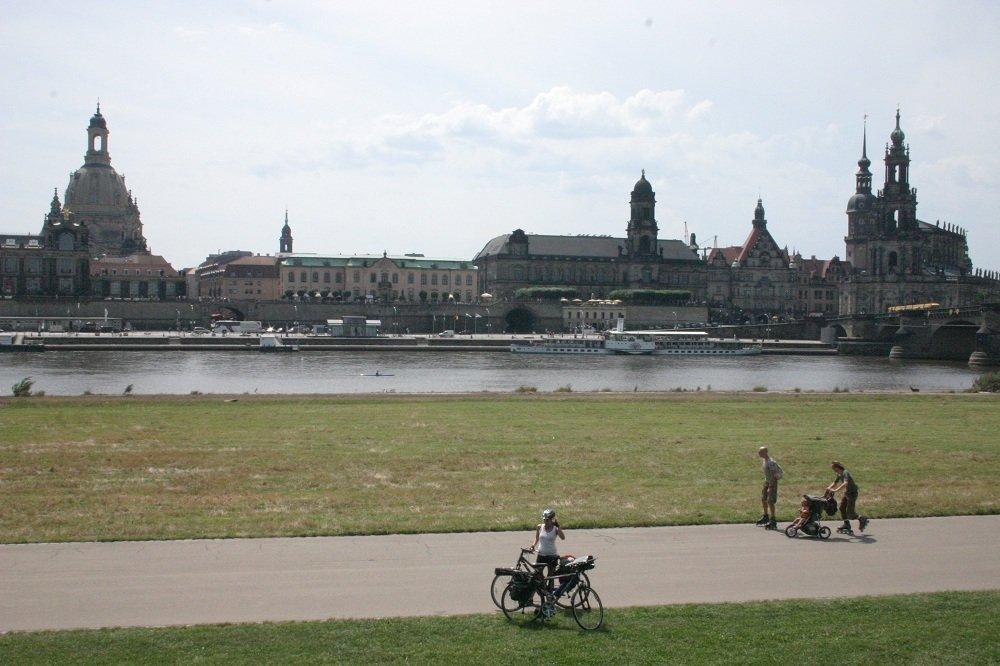 gezicht op Dresden