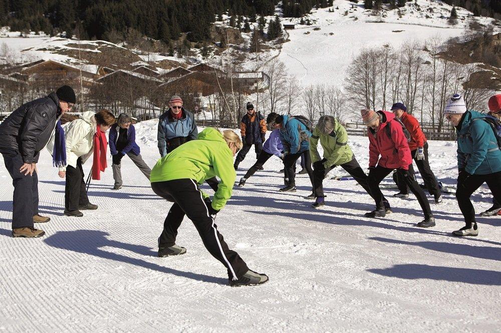 Ellis oefeningen in de sneeuw