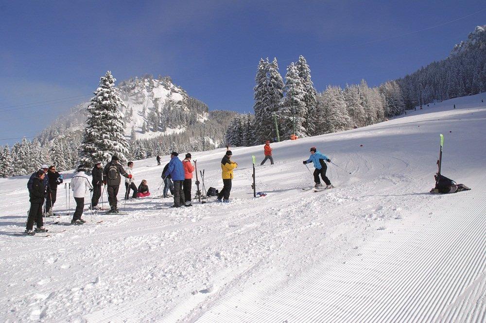 Berg met sneeuw  skier