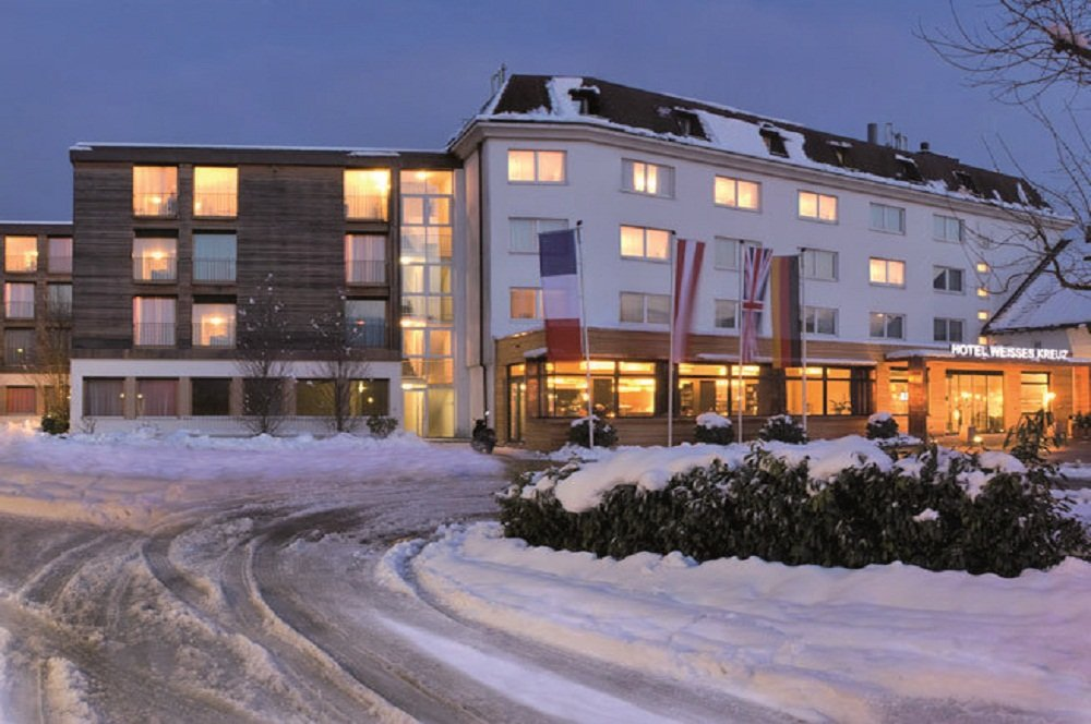 Hotel in de sneeuw