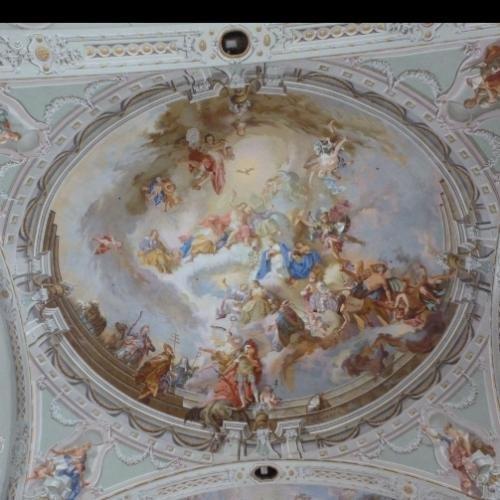 prachtige plafond-schildering