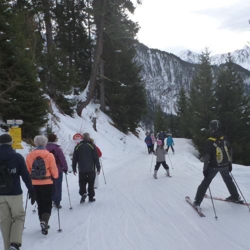 Wandelen en skiën gaat hier goed samen