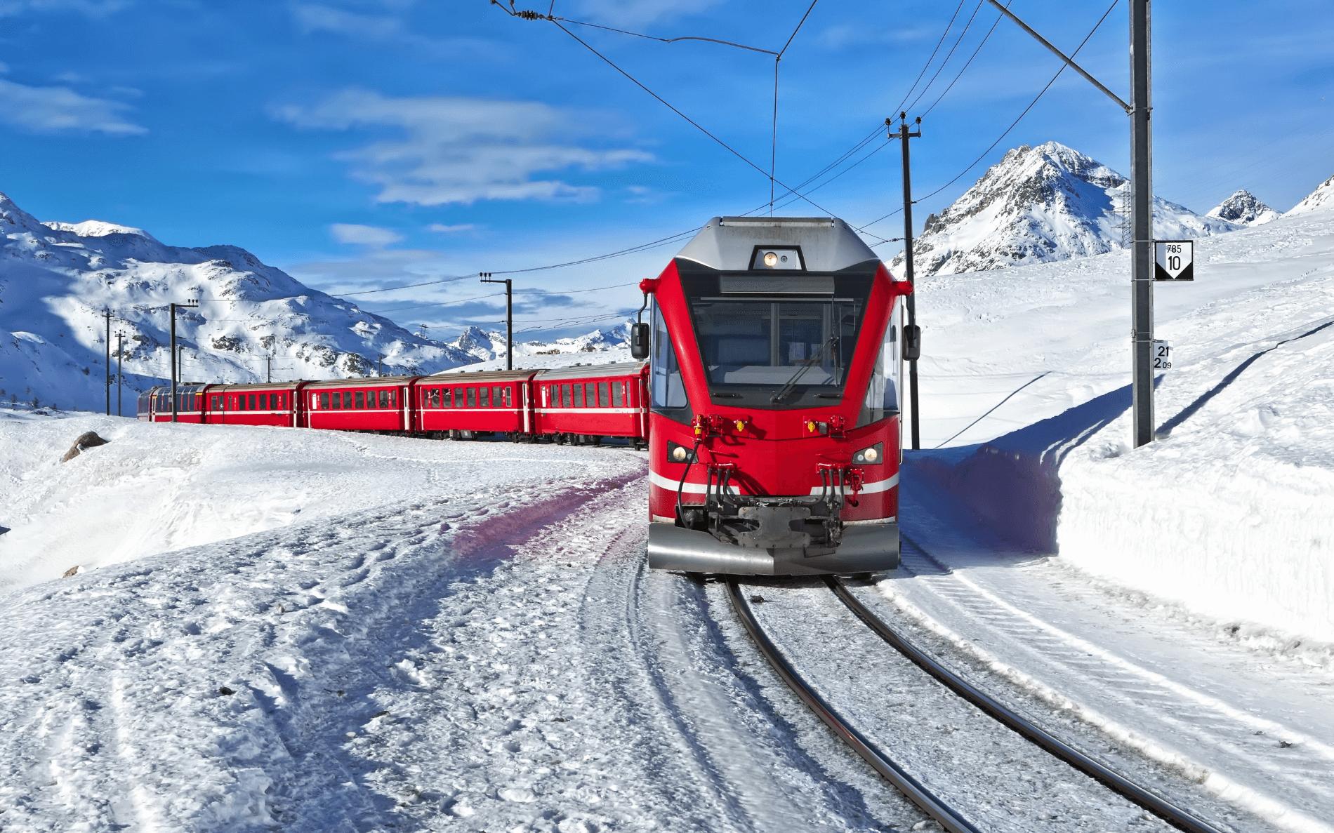 Kerstreis treinenspecial Bernina Express, Arosa Bahn - Zwitserland