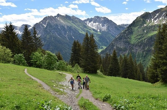 Vele prachtige wandelingen rondom Oberstdorf en in het Kleinwalsertal