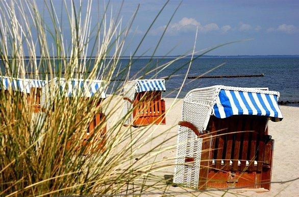 Strand op Rügen fietsen langs de Oostzeekust
