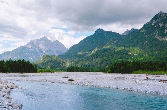 De rivier de Lech