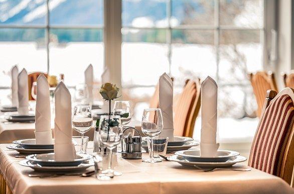 Hotel Föhrenhof gedekte tafel