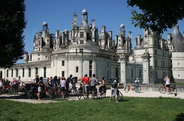 Chambord met fietsers