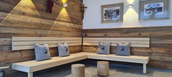 Hotel Arzlerhof zitje bij sauna