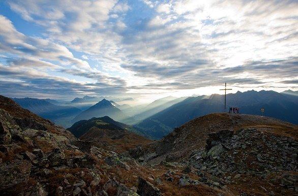 Overzicht bergen Pitztal zomer