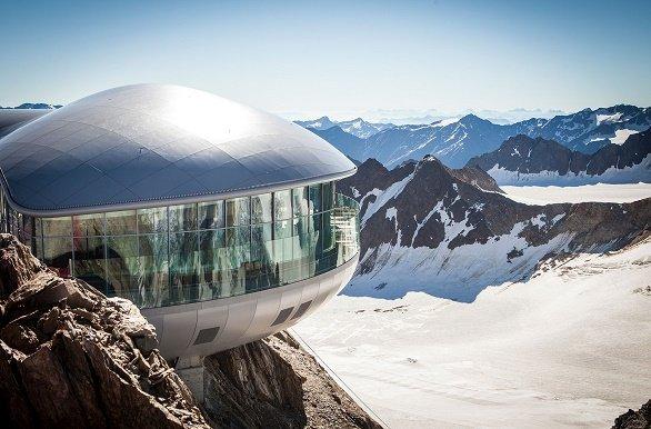 Pitztaler Gletsjer uitzicht platform