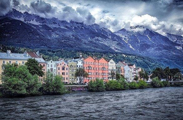 Innsbruck met de Inn