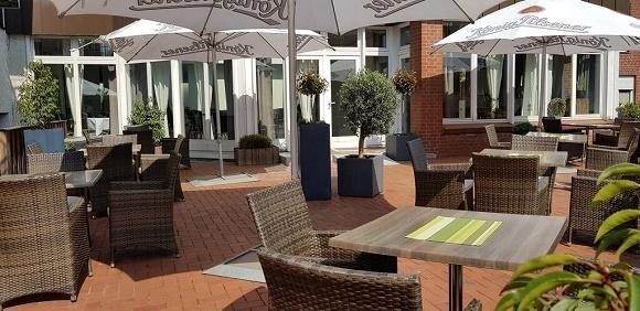 Hotel Merfelderhof terras