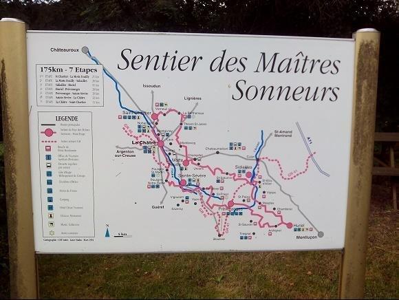 Het Franse Pad, routekaart sur les pas des Maitres Sonneurs