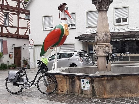 Riedlingen ooievaar en fiets
