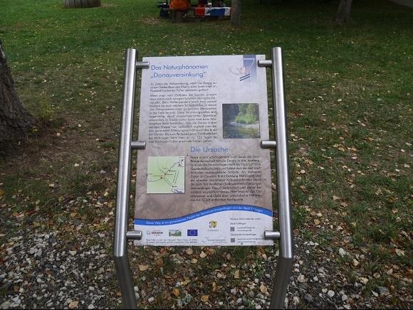 Donauversinkung informatiebord