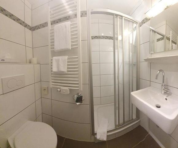 Hotel Merfelderhof badkamer