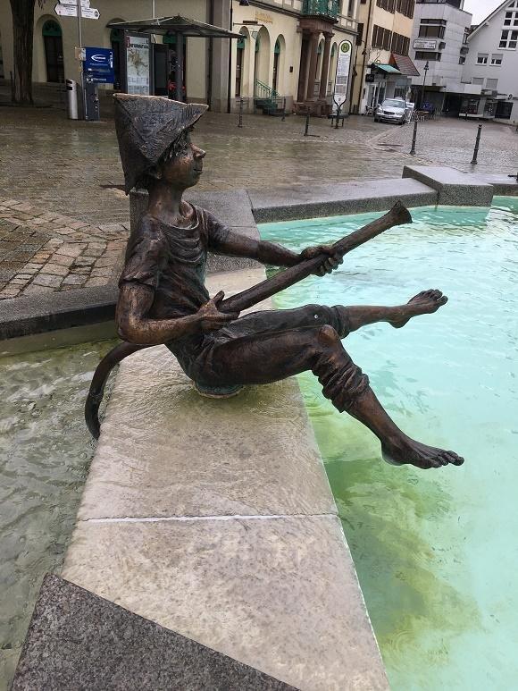 Gedeelte van de fontein in Ehingen